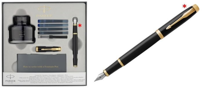 Parker Fountain pen set, IM Essential series Black lacquer GT