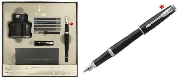 Parker Fountain pen set, Urban Stylish series Black lacquer CT (Black Cab)