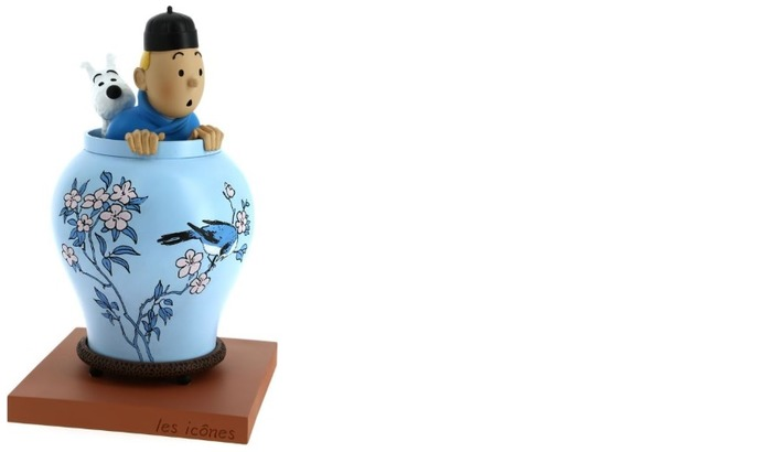 Tintin Figurine, Decorations series Blue Lotus vase (Icons)