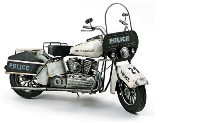 Splash Decorative object, Antique series Police Motorcycle