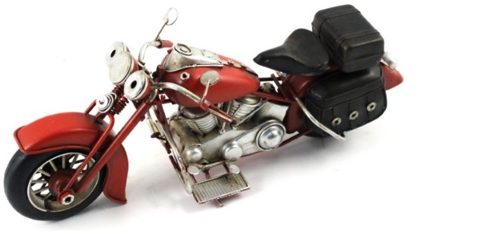 Splash Decorative object, Antique series Red Motorcycle