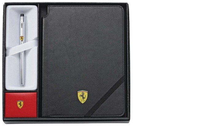 Ferrari roller ball & journal set, Gifts series Cross Century II Chrome