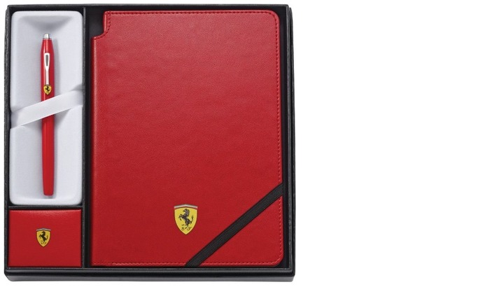 Ferrari roller ball & journal set, Gifts series Cross Century II Red