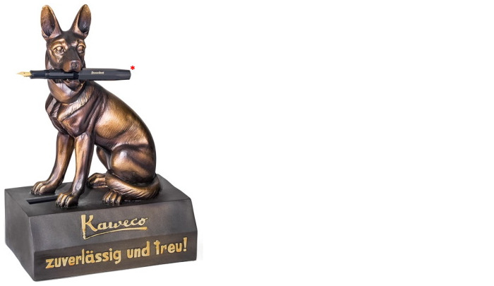 Kaweco Pen stand, Deco series German shepherd