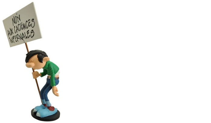 Comics Figurine, Gomer Goof series - Non aux cadences infernales Sign