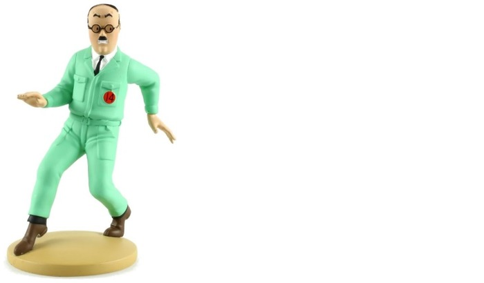 Tintin Figurine, Decorations series Assistant Engineer Frank Wolff