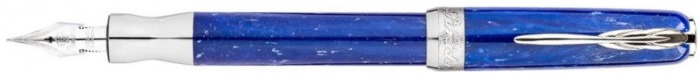 Pineider Fountain pen, La Grande Bellezza Gemstones series Blue
