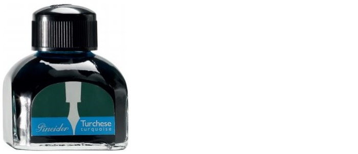 Pineider Ink bottle, Refill & ink series Turquoise ink