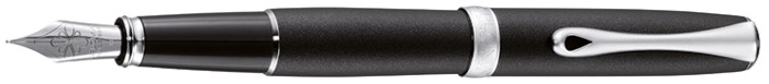 Diplomat Fountain pen, Excellence A² series Matte black/Matte chrome