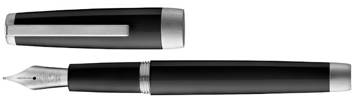 Jacques Herbin Fountain pen, Sloop series Black CT