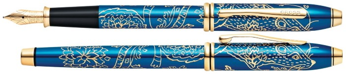 Cross Fountain pen, Townsend 2020 Year of the Rat series Blue GT