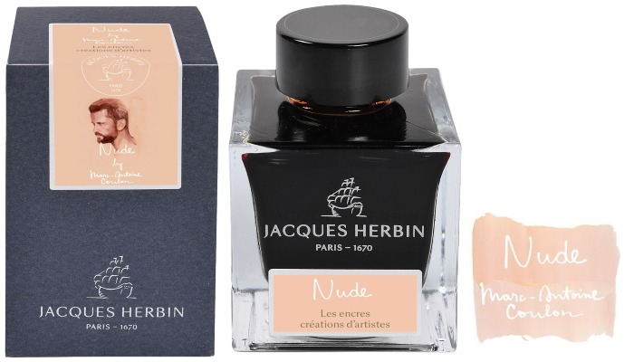 Jacques Herbin Ink bottle, Créations d'artistes inks series Nude ink- 50ml