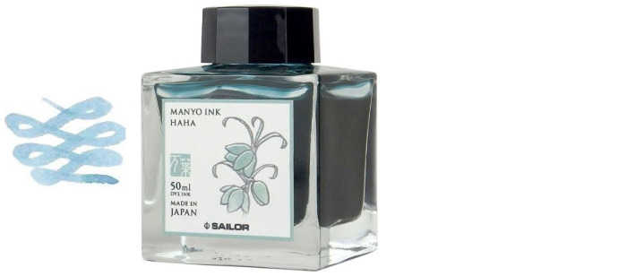 Sailor ink bottle, Manyo series Pastel blue ink (Haha)- 50ml