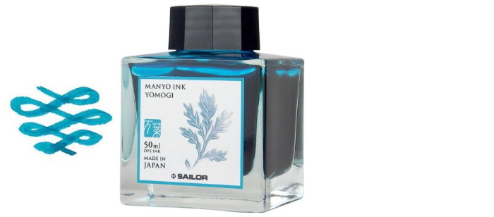 Sailor ink bottle, Manyo series Teal ink (Yomogi)- 50ml