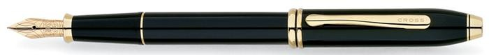 Cross Fountain pen, Townsend serie Black GT