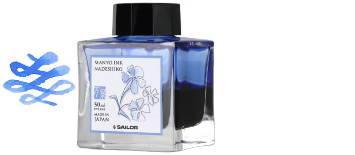 Sailor ink bottle, Manyo series Light blue ink (Nadeshiko)- 50ml