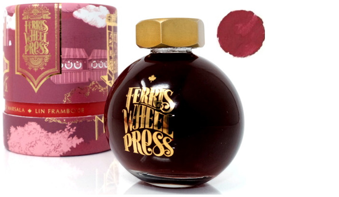 Bouteille d'encre Ferris Wheel Press, série Fountain pen Ink Encre Lin framboise- 85ml