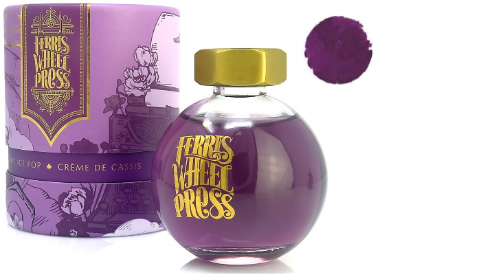 Ferris Wheel Press ink bottle, Fountain pen Ink series Grape Ice Pop ink- 85ml
