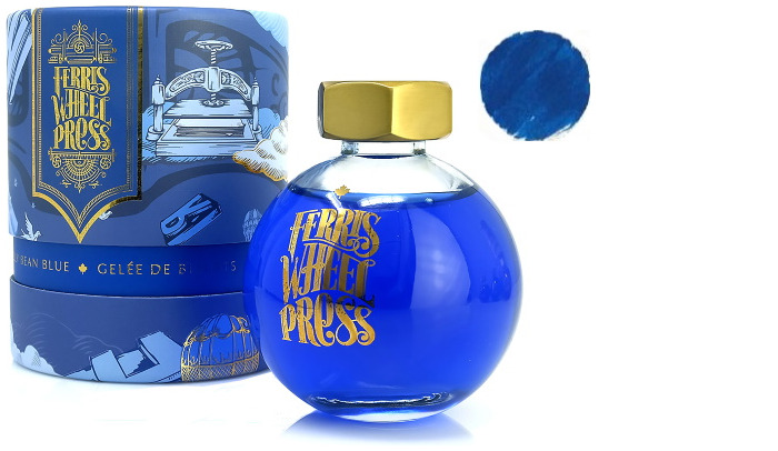 Ferris Wheel Press ink bottle, Fountain pen Ink series Jelly Bean Blue ink- 85ml