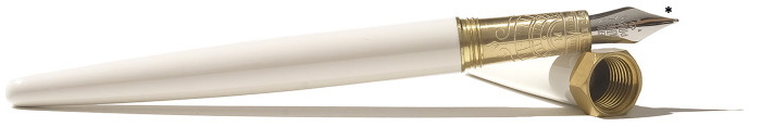 Stylo plume Ferris Wheel Press, série The Brush Fountain Pen Blanc doux