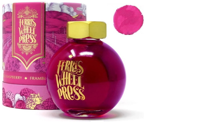 Bouteille d'encre Ferris Wheel Press, série Summer 2020 Collection Encre Framboise-Framboise- 85ml