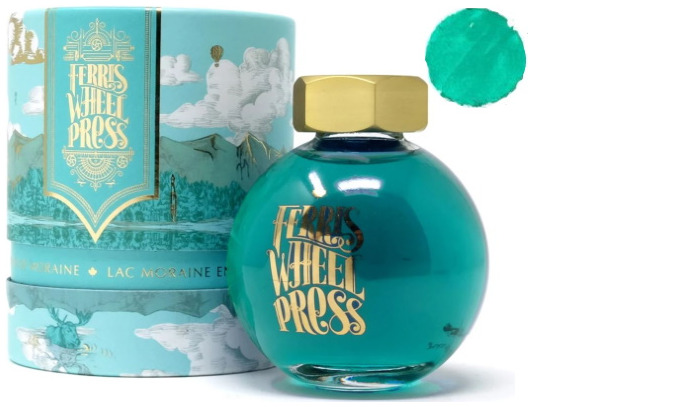 Bouteille d'encre Ferris Wheel Press, série Summer 2020 Collection Encre Lac Moraine enchanté- 85ml