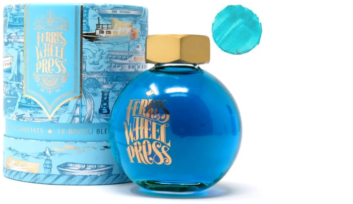 Bouteille d'encre Ferris Wheel Press, série Summer 2020 Collection Encre Le Bayou bleu- 85ml