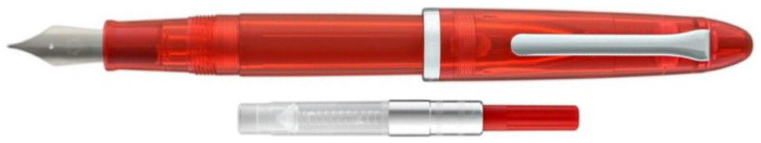 Stylo plume Sailor, série Compass 1911 Steel Rouge transparent