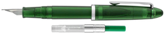 Stylo plume Sailor, série Compass 1911 Steel Vert transparent