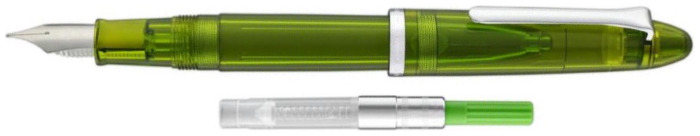 Stylo plume Sailor, série Compass 1911 Steel Olive transparent