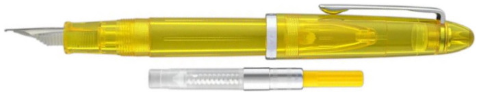 Stylo plume Sailor, série Compass 1911 Steel Jaune transparent