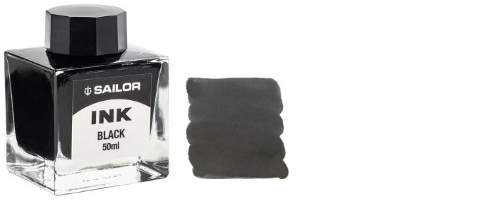 Sailor ink bottle, Refill & ink series Black ink (50ml)