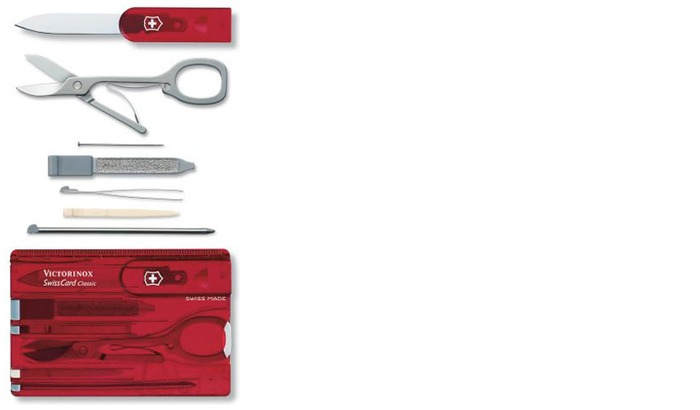 Victorinox Multifunction card, Swisscard serie Red