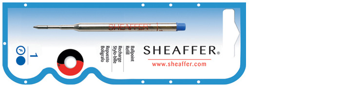 Sheaffer Ballpoint refill, Refill & ink series Blue ink