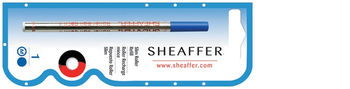Sheaffer Roller refill, Refill & ink slim serie Blue ink