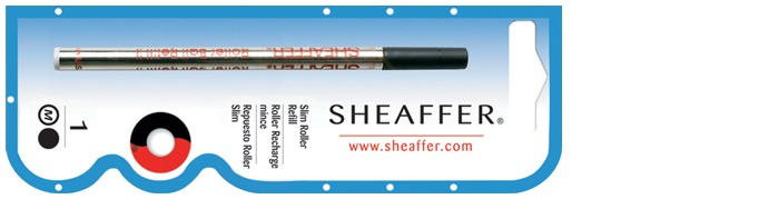 Sheaffer Roller refill, Refill & ink series slim Black ink