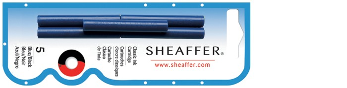 Sheaffer Ink cartridge, Refill & ink series Blue-black ink