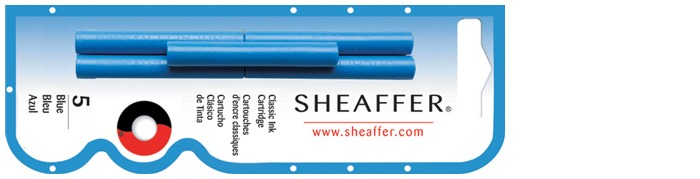 Sheaffer Ink cartridge, Refill & ink series Royal blue ink