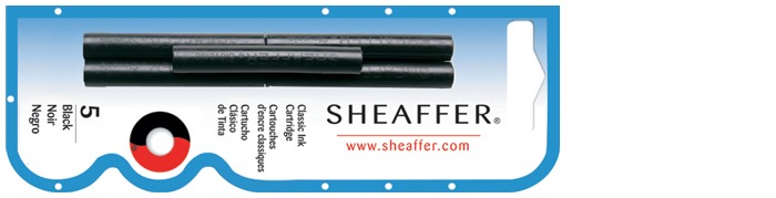 Sheaffer Ink cartridge, Refill & ink series Black ink