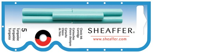 Sheaffer Ink cartridge, Refill & ink series Turquoise ink