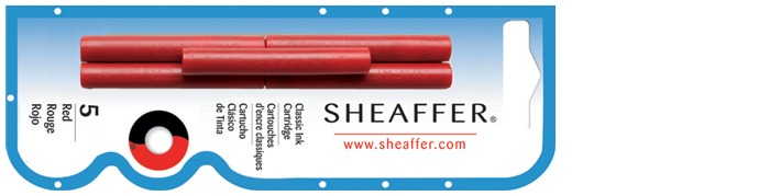 Sheaffer Ink cartridge, Refill & ink series Red ink
