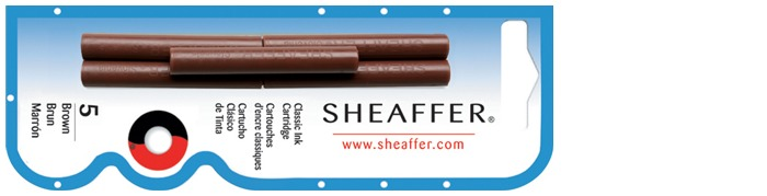 Sheaffer Ink cartridge, Refill & ink series Brown ink