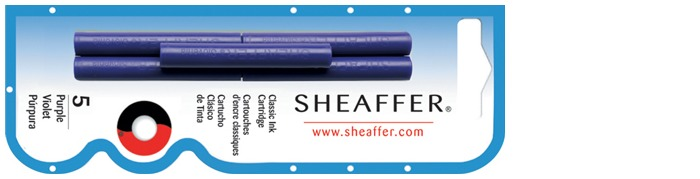 Sheaffer Ink cartridge, Refill & ink series Purple ink