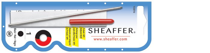 Sheaffer Ballpoint refill, Refill & ink - Recharge & encre serie Black ink