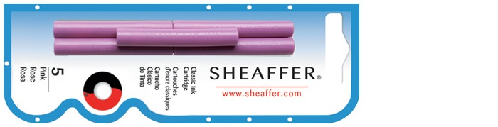 Sheaffer Ink cartridge, Refill & ink series Pink ink