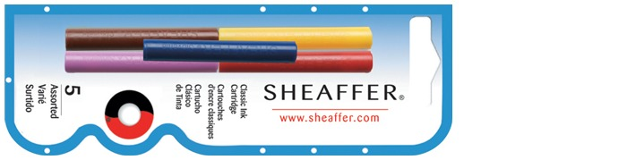 Sheaffer Ink cartridge, Refill & ink series Multicolor
