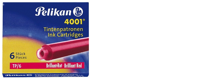 Pelikan Ink cartridge, Refill & ink series Red ink (Short)