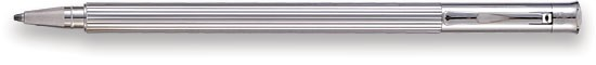 Stylo bille roulante Faber-Castell, série Slim platinum plated Platine