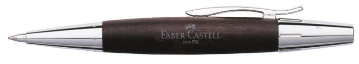 Faber-Castell Ballpoint pen, E-motion Wood/Chrome serie Dark brown