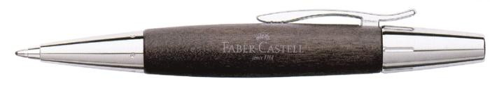 Faber-Castell Ballpoint pen, E-motion Wood/Chrome serie Black